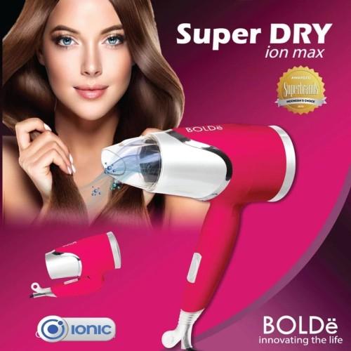 Foto Produk BOLDE Super DRY Hair Dryer Penggering Rambut ION MAX - Merah Muda dari UTAMA_ELECTRONIC