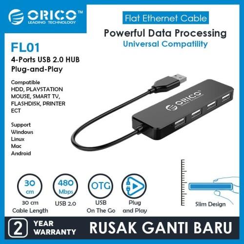 Foto Produk ORICO FL01 USB2.0 HUB 4-Port dari manekistore