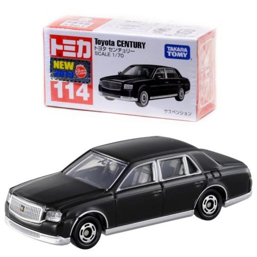 Foto Produk Tomica Reguler 114 Toyota Century Black 1st Release (Stiker Tahun) dari Vovo Toys