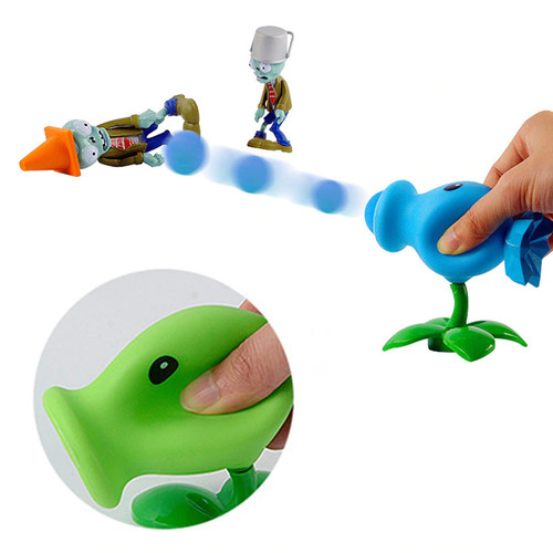 Foto Produk Action Figure Plants vs Zombies Mainan Bisa Nembak - Pea Shooter dari Grandia Shop