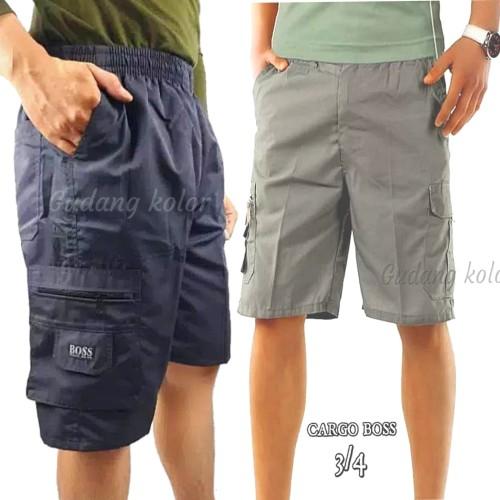 Foto Produk Celana Pendek / Celana Cargo 3/4 Katun Boss dari Gudang Kolor