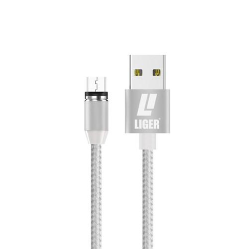 Foto Produk LIGER kabel charger magnetic LED 1meter fast charging Micro USB - Putih dari LIGER OFFICIAL STORE