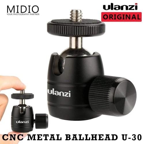 Foto Produk Ulanzi CNC Metal Mini Ball Head U-30 Untuk Kamera DSLR Actioncam Dan M dari Midio