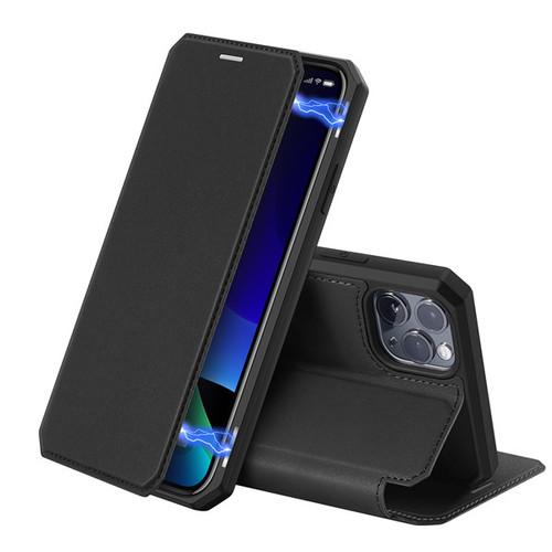 Foto Produk Case Iphone 11 Pro Max - SKIN X Series, Dux Ducis Premium Flip Case - Hitam dari Gojali