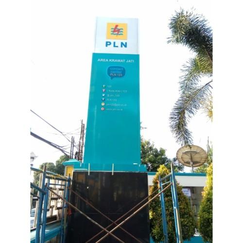 Foto Produk Totem PLN Bogor ,Jasa pembuatan Totem PLN dari Huruf timbul Jkt