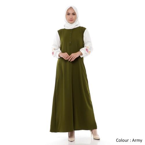 Foto Produk Gamis Wanita Original | Marisa Bordir | Dress Muslim | Tazkia Hijab - Black dari Tazkia Hijab Store