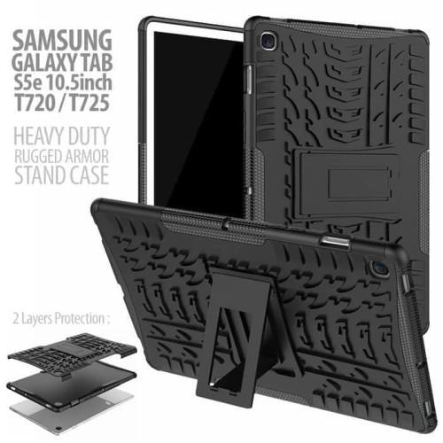 Foto Produk Samsung Galaxy Tab S5e - Rugged Armor Back Hard Case Cover Stand dari a&h original