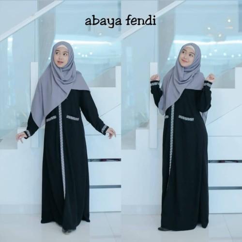 Foto Produk Abaya Gamis Arab Hitam Ria ricis Busui Fendy dari GrosirAbaya