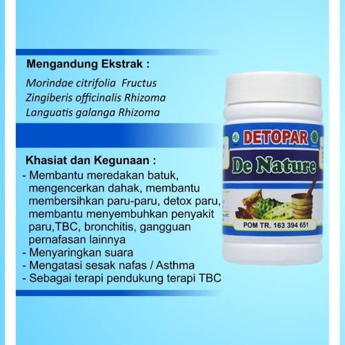 Foto Produk Detopar De Nature Obat Paru-Paru Herbal dari De Nature Official Store
