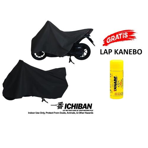 Foto Produk Cover Motor Sarung Motor Indoor Bebek Matic Vario Mio Satria Supra - Ichiban Hitam dari GrosirOtomotif
