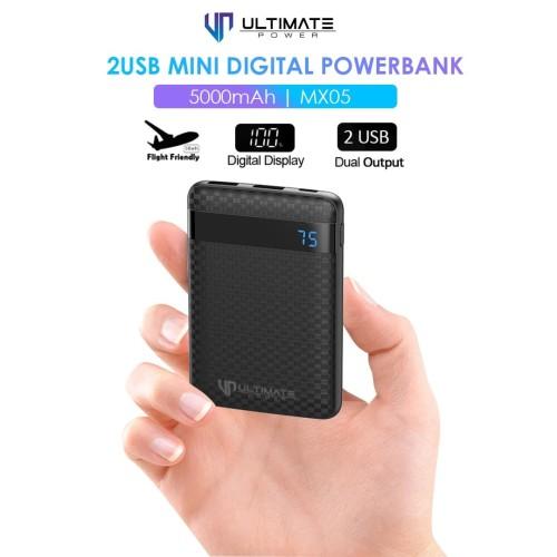 Foto Produk PROMO Ultimate Power 2USB Mini Digital Powerbank 5000mAh MX05 dari Ultimate Power Official