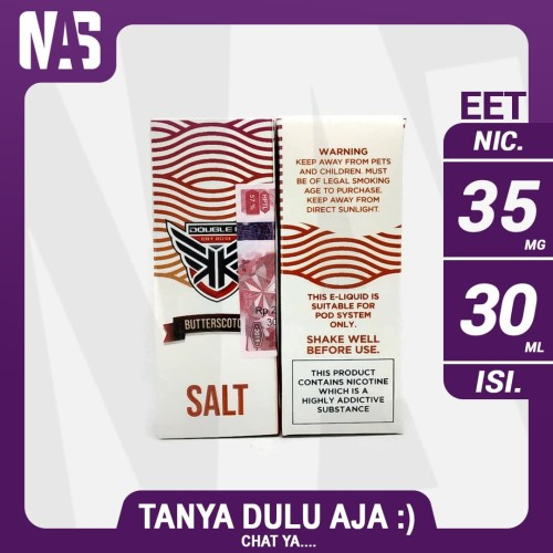 Foto Produk Salt Nic Double K Butterscotch 35 Mg 30 Ml Liquid Pod Vape Vapor Cukai dari NAS VIRTUAL