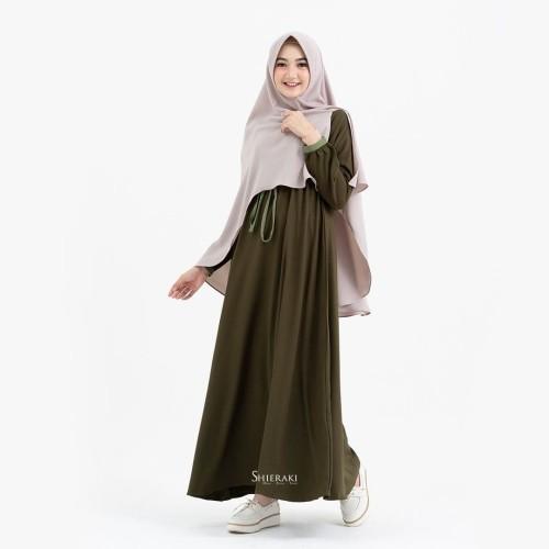 Jual Levana Dress By Shieraki Gamis Polos Kerut Kab Brebes Nr Shope Tokopedia