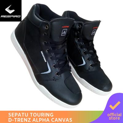 Foto Produk Respiro Dtrenz Alpha Canvas Black White| Sepatu Motor Touring Pria - 41 dari Respiro Official Store