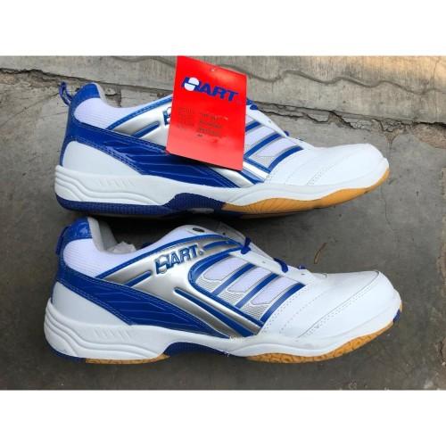Foto Produk Sepatu Badminton Hart HS303 white/blue ! 100%ori - Merah, 36 dari tokoreadygan
