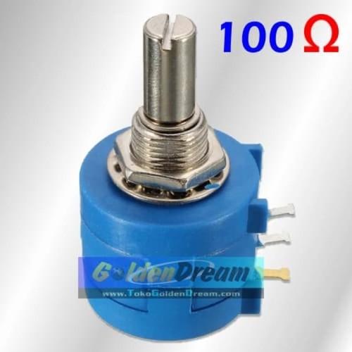 Foto Produk Bourns Potensiometer 100 Ohm Wirewound 10 Putaran Potensio 100R Turn dari VISITEK