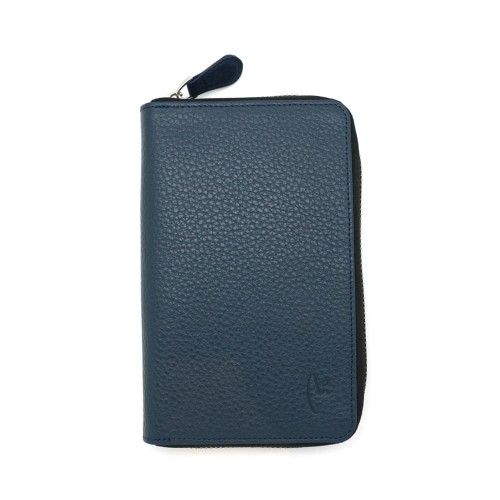 Foto Produk VERMONT V83 - P004 Classic Navy Genuine Leather Wallet With Zipper dari VERMONT LEATHER