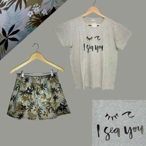 Foto Produk pureshope baju tidur laluna la luna piyama baju santai korea murah set dari pure shope
