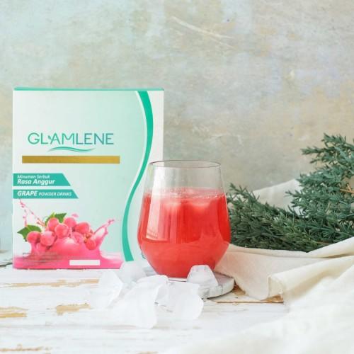 Foto Produk Glamlene Minuman diet pelangsing & pencerah kulit BPOM Halal 1 box dari Suplemen Fitness Murah