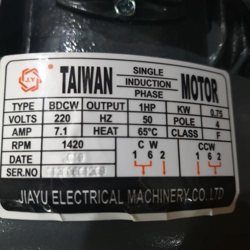 Foto Produk 1 HP 1 Phase Jiayu Dinamo/Elektro Motor/Electro Motor 2P/4P - 2 dari PUSAT SERBA TEKNIK