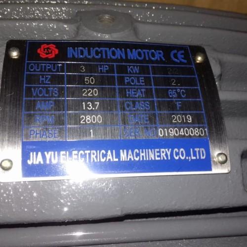 Foto Produk 3 HP 1 Phase Jiayu Dinamo/Elektro Motor/Electro Motor 2P/4P - 2 dari PUSAT SERBA TEKNIK