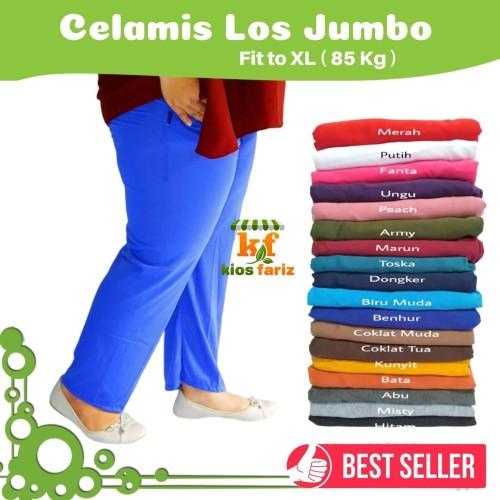 Foto Produk Polos Jumbo / Celamis Polos / Dalaman gamis / Celana Santai / Legging dari Thifa Craft