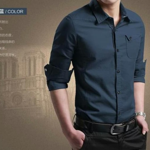 Foto Produk miller navy OT pakaian pria kemeja slim fit warna navy - Navy, XS dari Lais Jauhari