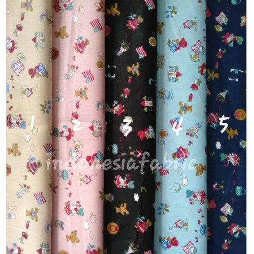 Foto Produk Kain Bahan Katun Jepang Japan Tokai Gamis Tunik Seragam motif KJ222 dari Toko Kain Grosir