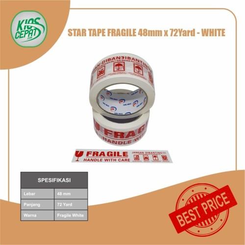 Foto Produk Lakban STAR TAPE FRAGILE PUTIH (48mm x 65Meter) dari KiosCepat