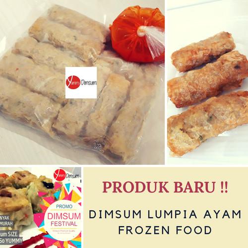 Foto Produk Dimsum Lumpia Ayam Frozen Food Dim Sum Halal Tanpa MSG by Yummy Dimsum dari Yummy Dimsum Frozen Food