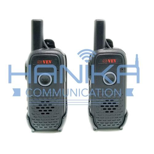 Foto Produk Sepasang VEV V1 Mini Walkie Talkie Ori Garansi UHF 400-470M 2W Kecil dari Hanika Communication