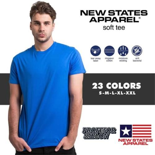 Foto Produk Kaos polos XXXL 3XL merk NSA New states apparel soft tee 3600 dari Profesor Sablon