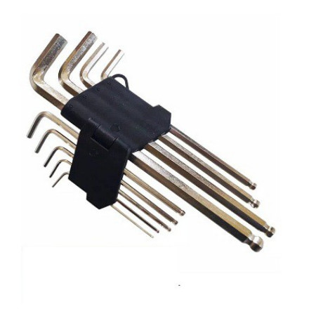 Foto Produk Kunci L Panjang Ujung Bulat Set 9 PCS Hex Key Wrench Huidi Tools dari mofan accesories