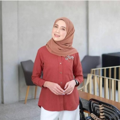 Foto Produk Ezyaa shirt by gonegani coral size s dari MITRA TIGA
