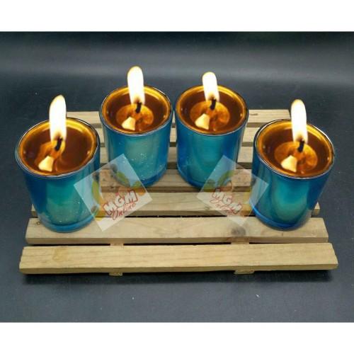 Foto Produk Gelas lilin chrome warna - gelas lilin minyak - tempat lilin murah dari MGM Online