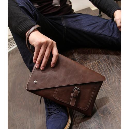 Foto Produk Handbag/Clutch/Tas tangan PRESTON (impor) - Cokelat dari Alfreshop88
