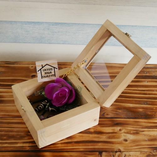 Foto Produk kotak tempat perhiasan kayu pinus jati belanda ukuran 15 x 15cm dari RUMAH KAYU AYUNDA