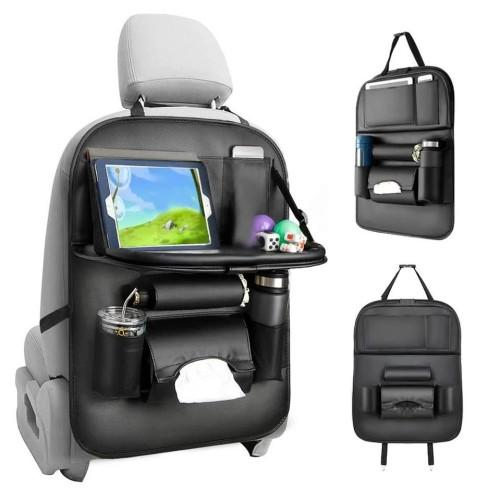 Foto Produk Car Seat Organizer Foldable - Rak Gantung Mobil Kulit + Meja Lipat dari Navy.Unique