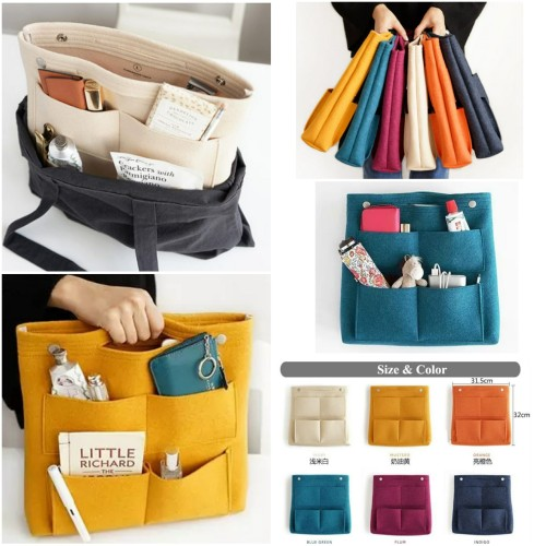 Foto Produk Dual in Bag (Large) / Bag Organizer / Daleman Tas / Tas Serbaguna - Orange dari Travelycious