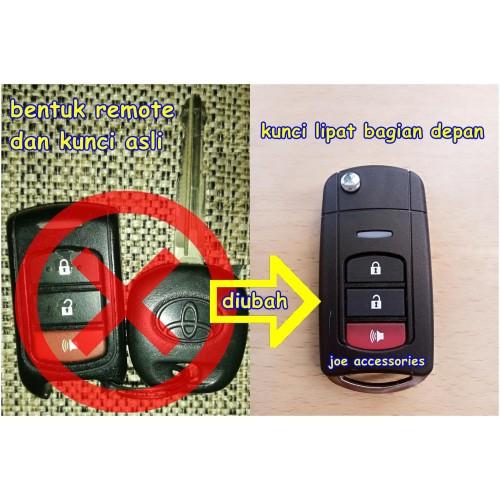 Foto Produk Casing Kunci Lipat Flip Key Toyota Rush 3Tombol dari joe accessories