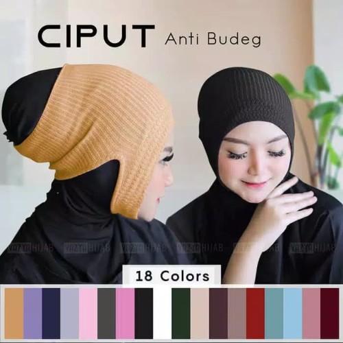 Foto Produk Ciput inner daleman Jilbab Rajut bandana anti budeg polos hijab iner dari Tokokosmetik surabaya