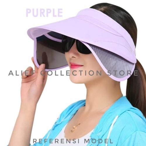 Foto Produk Topi Pantai Topi Anti UV Topi Matahari Topi Golf Wanita - Hitam dari Alief Collection Store