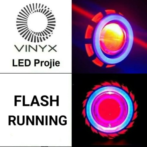 Foto Produk LED Projie / Projector Lampu Utama Motor 3 Mode Vinyx U11 / U12 / U14 - U12 BULAT dari Garuda LED