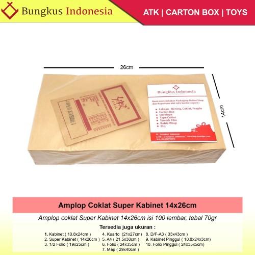 Foto Produk Amplop Coklat Super Kabinet 80gr isi 100lbr dari Bungkus_indonesia