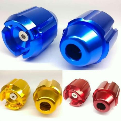 Foto Produk Jalu As Roda Depan Motor Cnc Full Warna / Bandul As Roda Depan Motor dari Panca Motor Variasi