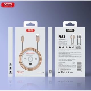 Foto Produk XO - NB27 USB Cable micro Type-C Knit Spring dari Clarias Shop