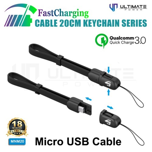 Foto Produk Ultimate Power Kabel Data And Charger Cable Keychain Series - Micro US dari Clarias Shop