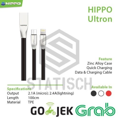 Foto Produk Hippo Ultron 200cm Output 2.1A Micro dari Clarias Shop