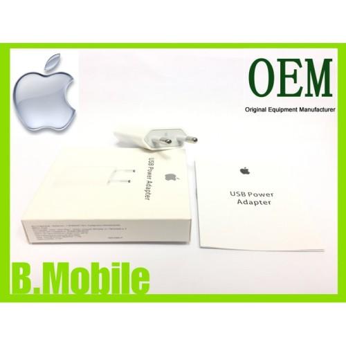 Foto Produk ADAPTOR CHARGER ADAPTOR CASAN USB POWER ADAPTER IPHONE EU OEM dari Clarias Shop