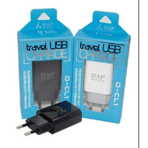 Foto Produk Travel USB Charge DAP D-CL1 Charger 2.4A Adapter Batok 2 port Original dari Clarias Shop